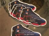 Jordan Birthday Invitations Jordan Inspired Shoe Cut Out Invitation A Designs Co