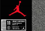 Jordan Birthday Invitations Jordan Shoe Box Invitation