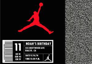 Jordan Birthday Invitations Jordan Shoe Box Invitation