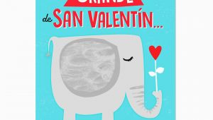 Jumbo Birthday Cards Hallmark Elephant Jumbo Spanish Language Valentine 39 S Day Card 19