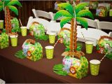 Jungle Decorations for Birthday Party Monkey themed Jungle Birthday Party Spaceships and Laser