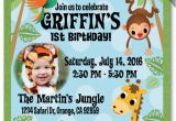 Jungle First Birthday Invitations 17 Safari Birthday Invitations Design Templates Free