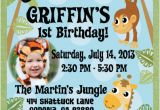 Jungle First Birthday Invitations Jungle Safari Party Birthday Invitation Jungle themed