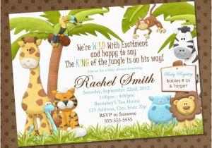 Jungle Theme Birthday Invitation Template Baby Shower Invitations Free Printable Safari