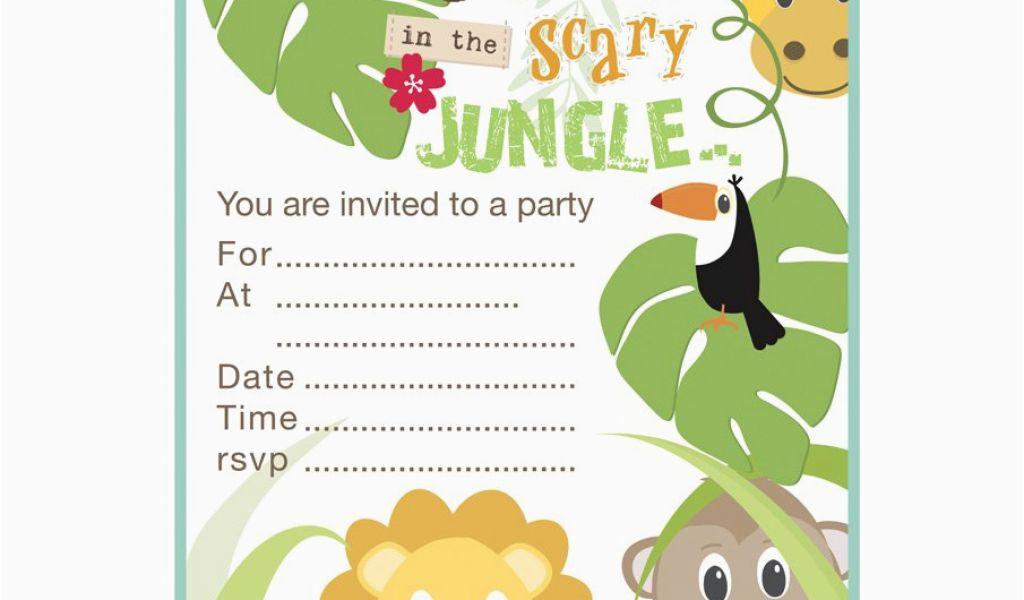 Jungle Theme Birthday Invitation Template