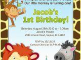 Jungle themed 1st Birthday Invitations 1st Birthday Jungle Invitation