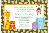 Jungle themed 1st Birthday Invitations Birthday Invitations Jungle themed 1st Birthday