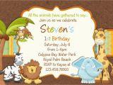 Jungle themed 1st Birthday Invitations Birthday Invitations Jungle themed 1st Birthday