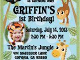 Jungle themed 1st Birthday Invitations Jungle Safari Party Birthday Invitation Jungle themed
