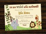 Jungle themed 1st Birthday Invitations Jungle themed 1st Birthday Invitations Safari 1st
