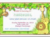 Jungle themed 1st Birthday Invitations Jungle themed 1st Birthday Invitations Safari themed