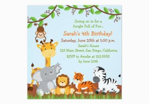 Jungle Themed Birthday Party Invitations 17 Safari Design Templates Free