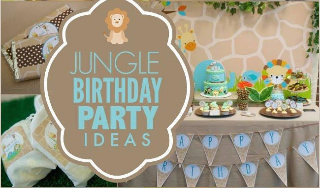 Jungle Themed First Birthday Decorations A Little Boy 39 S