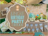 Jungle themed First Birthday Decorations A Little Boy 39 S First Jungle Safari Birthday Party