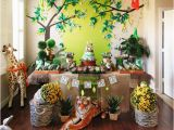 Jungle themed First Birthday Decorations Cute Boy 1st Birthday Party themes