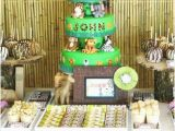 Jungle themed First Birthday Decorations Jungle Safari themed First Birthday Party Spaceships and