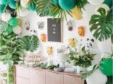 Jungle themed First Birthday Decorations Kara 39 S Party Ideas Jungle 1st Birthday Party Kara 39 S
