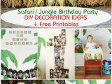Jungle themed First Birthday Decorations Safari Jungle themed First Birthday Party Part Iii Diy