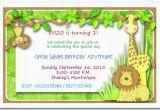 Jungle themed First Birthday Invitations Jungle themed 1st Birthday Invitations Safari themed