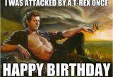 Jurassic Park Birthday Meme T Rex once Happy Birthday Memes Art Painting Artwork