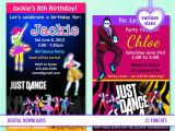 Just Dance Birthday Party Invitations 17 Best Images About Just Dance Party On Pinterest