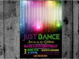 Just Dance Birthday Party Invitations Disco Ball Just Dance Disco Dance Party Tween Diva