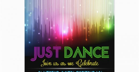 Just Dance Birthday Party Invitations Disco Just Dance Party Invitation Zazzle Com