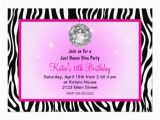 Just Dance Birthday Party Invitations Just Dance Disco Diva Party Custom Invitations Zazzle