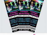Just Dance Birthday Party Invitations Just Dance Invites Just Dance Ticket Invitations Just