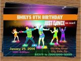 Just Dance Birthday Party Invitations Just Dance Party Invitation top Party themes Pinterest