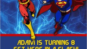 Justice League Birthday Invitations Printable Justice League Birthday Invitation by Charmingangel On Etsy