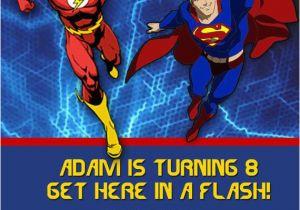 Justice League Birthday Invitations Printable Invitation By Charmingangel On Etsy