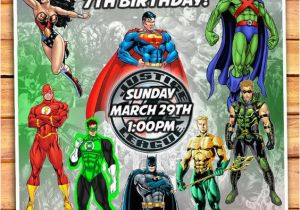 Justice League Birthday Party Invitations Invitation By