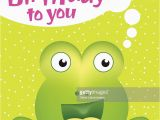Juvenile Birthday Cards Juvenile Birthday Card Template with Cute Monster Vector