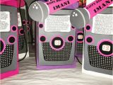 Karaoke Birthday Party Decorations Karaoke theme Party Favor Bags for Big Kids by Partiesbydezzy