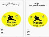 Karate Birthday Invitations Free Printable 9 Best Images Of Karate Birthday Invitations Printable