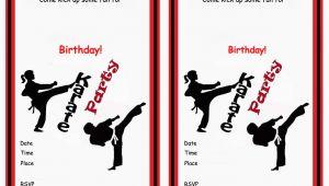 Karate Birthday Invitations Free Printable Karate Birthday Invitations Birthday Printable