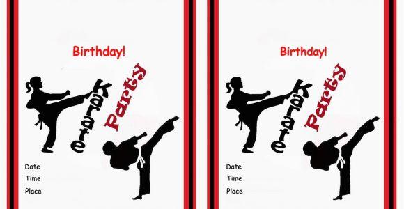 Karate Birthday Invitations Free Printable