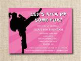 Karate Birthday Invitations Free Printable Karate Birthday Party Invitation Custom Printable File