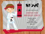 Karate Birthday Invitations Free Printable Karate Invitation Kids Birthday Printable by Bellachicards