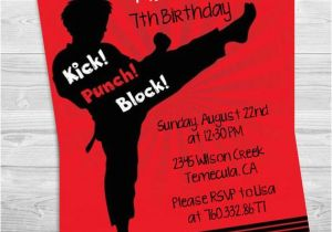 Karate Birthday Invitations Free Printable Party Invitation By Candles
