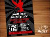 Karate Birthday Invitations Free Printable Printable Modern Karate Birthday Invitation Martial Arts