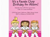 Karate Birthday Party Invitations Girls Karate themed Birthday Party Invitations Zazzle