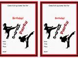 Karate Birthday Party Invitations Karate Birthday Invitations Birthday Printable