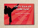 Karate Birthday Party Invitations Karate Birthday Party Invitation Custom Printable File