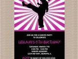 Karate Birthday Party Invitations Karate Birthday Party Invitation Ninja Birthday by Honeyprint