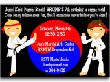 Karate Birthday Party Invitations Karate Birthday Party Invitations Cimvitation