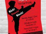 Karate Birthday Party Invitations Karate Printable Birthday Party Invitation by Candles