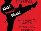 Karate Birthday Party Invitations Karate Printable Birthday Party Invitation by Candlesandfavors