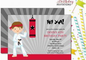 Karate Kid Birthday Invitations Invitation Kids Printable Digital File